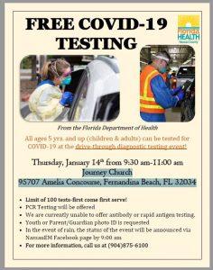 Covid Testing Thursday 14th Jan