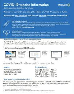 Walmart COVID-19 vaccine infographic