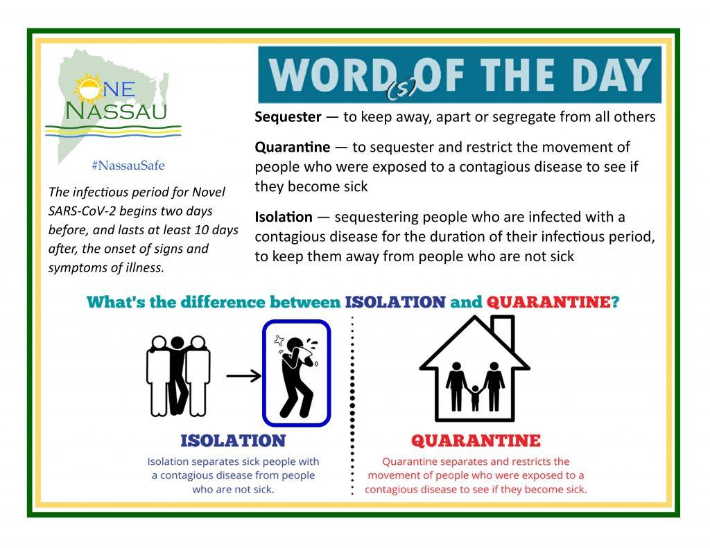 isolation or quarantine